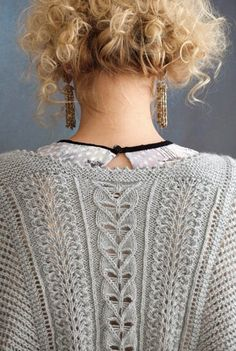 lace21_2 (368x548, 65Kb)dos d'une veste je suppose Knitting Stiches, Knitting Charts, Lace Knitting, Knitting Patterns, Crochet Blouse, Knit Crochet, Vogue Knitting, Lace Sweater, Knitwear Fashion