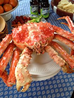Big Red! An Alaska King Crab carted home from America's Last Frontier. An unusual thing because they aren't normally sold whole.