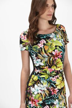Maggy London Tropical Print Ruched Dress - Dresses - Shop By: - Clothing | Melanie Lyne