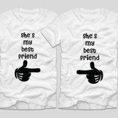 Tricouri cu mesaj BFF Maimute - Tricouri cu mesaje My Best Friend, Best Friends, Bff, Mens Tops, Clothes, Women, Beast, Beat Friends, Outfits