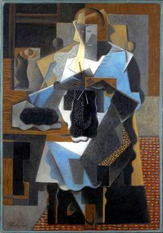 La Tricoteuse ~ The Knitter in 1919 Painted by Jean Metzinger (1883-1956). He was a French artist, painter, theorist, writer and poet. His early works, from 1902 to 1904, were influenced by the Neo-Impressionism of Georges Seurat and Henri Edmond Cross. Products shown: Dutch Knits, 1635-1969 by Constance Willems at www.knitdesign.com