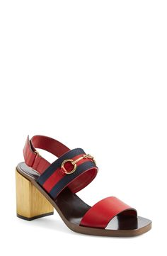 Gucci 'Querelle' Horsebit Slingback Sandal (Women)