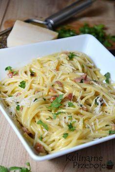 Spaghetti carbonara - oryginalny przepis - KulinarnePrzeboje.pl