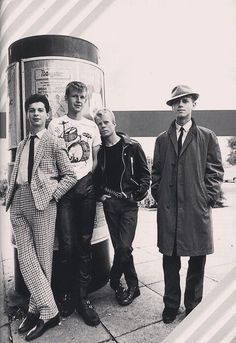 #DepecheMode 🇬🇧 ♥︎ #Dave #Fletch #Vince & #Martin #devotee #young #incredible #astonishing #goodlooking #seductive #DM #team #loveforever  ·