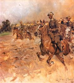 The Charge of the Regiment of Jazlowiec Uhlans, Museum of the Polish Army, Warsaw. Poland History, Art History, Military Art, Military History, Classic Paintings, Knights Templar, Equestrian, Museum, Horses