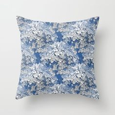 Hydrangea clouds Throw Pillow by mokkihopero. The Hortensia blooms in the design are transformed into clouds against a bright blue sky. Throw Cushions, Couch Pillows, Designer Throw Pillows, Down Pillows, Accent Pillows, D Flowers, Cloud Pillow, Fluffy Pillows, Pillow Design