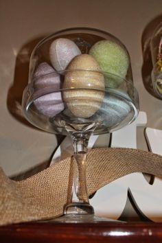 Love this simple easter decor