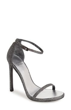 Stuart Weitzman 'Nudist' Sandal at Nordstrom.com. Subtle texture lends depth and luster to a minimalist sandal topped by a slender strap.