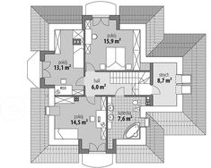 Projekt domu Ariadna I 135,9 m2 - koszt budowy 246 tys. zł - EXTRADOM Simple House Design, Plan Design, House Plans, Villa, Floor Plans, Flooring, How To Plan, Mansions, Home