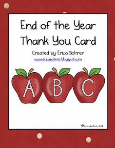 End of the Year ThankYou Card