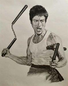 Bruce Lee Art, Bruce Lee Martial Arts, Bruce Lee Quotes, Martial Arts Movies, Martial Artists, Bruce Lee Collection, Bruce Lee Chuck Norris, Bruce Lee Pictures, Broly Movie