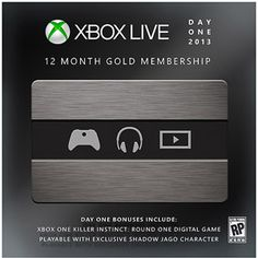 12 Month Live Gold Card - Day One Edition