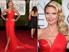 Heidi Klum veritably sizzled on the red carpet at the 2015 Golden Globe Awards, hosted this evening (January 11) at The Beverly Hilton Hotel in Beverly Hil