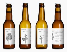 """Wild Winter Ale - Beer label design by Bedow for Mikkeller.  """"A collaboration with Danish breweryMikkeller. ThisWild Winter Aleis the fourth in a series of four seasonal beers released during 2012. The label is printed with a heat sensitive color — when the label gets warm the apple tree loses its leaves. Limited to 3,500 bottles."""""""
