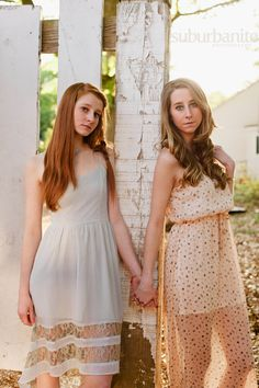 sisters pose