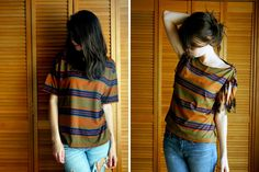 T-Shirt Restyle | 40 No-Sew DIY Projects