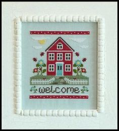 Welcome Home is the title of this cross stitch pattern from Country Cottage Needleworks. It is a new release so please note the shipping tim...