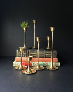 Hey, I found this really awesome Etsy listing at https://www.etsy.com/listing/472136081/brass-candlesticks-vintage-tulip-candle