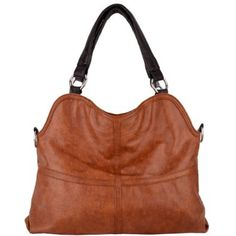 Amazon.com: Everyday Free Style Brown Soft Embossed Ostrich Double Handle Oversized Hobo Satchel Purse Handbag Tote Bag: Shoes