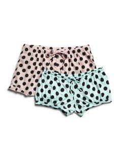 Polka dot sleep shorts #GapLove
