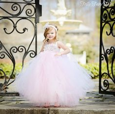 Light Pink Flower Girl Dress.