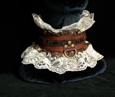Lace & Leather Steampunk Slave Collar Victorian by MyFunkyCamelot, $69.00