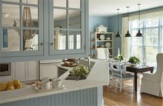 New Kitchen Ideas Blue And White Farrow Ball Ideas Farrow Ball, Blue Kitchen Decor, Kitchen Ideas, Kitchen Paint, Kitchen Designs, Farrow And Ball Lulworth Blue, Funky Bathroom, Wimborne White, Victorian Front Doors
