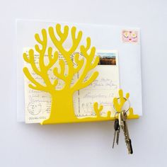 Entrance organizer - CITRUS // great for mail or a placeholder for incoming kids artwork