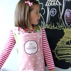 personalised 'princess' oilcloth apron by pinnikity | notonthehighstreet.com