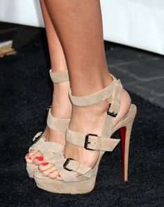 "Shantel VanSanten Photos - Celebrities attend Gatorade's new ""G Series Fit"" launch party at the SLS Hotel in Beverly Hills. - Gatorade's New ""G Series Fit Launch Party - Arrivals Stilettos, High Heels, Nude Shoes, Shoes Heels, Tan Heels, Sexy Heels, Strappy Heels, Leopard Heels, Prom Heels"