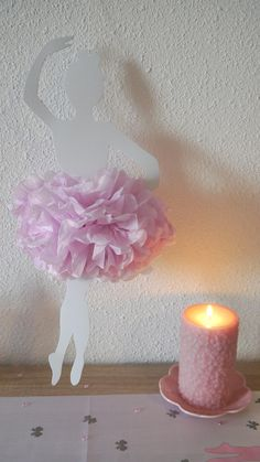 Décoration danseuse ballerine pour baptême, baby shower, anniversaires…