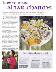 Altars:  How to Make #Altar Charms. Witch craft inspiration