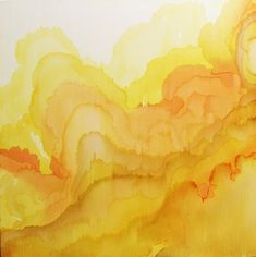 Tovera - Design Crush Beautiful yellow watercolor waves by Tobias Tovera. There's a quality to watercolor that really can't be replicated.Beautiful yellow watercolor waves by Tobias Tovera. There's a quality to watercolor that really can't be replicated. Tobias, Research Abstract, Aesthetic Colors, Aesthetic Yellow, Aesthetic Vintage, Shades Of Yellow, Mellow Yellow, Color Yellow, Yellow Theme
