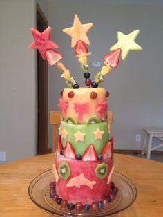 healthy fruit birthday cake - Google Search