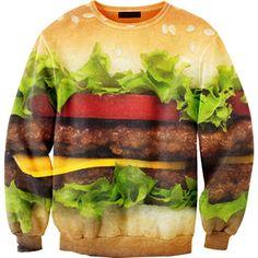 (3) Fab.com | Hamburger Sweatshirt Unisex