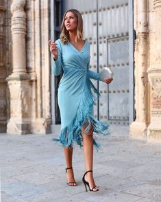 Juan Bernal – Spanish low cost brand for wedding guests- Wedding guests - Modern Cute Short Dresses, Unique Dresses, Modest Dresses, Pretty Dresses, Fall Fashion Outfits, Look Fashion, Fashion Dresses, Girl Fashion, Fiesta Outfit