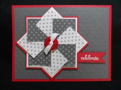 Pinwheel card by lisacurcio2001 - Cards and Paper Crafts at Splitcoaststampers