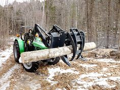 Expand the usefulness of your Tractor or Skid Steer.  Frostbite Grapple for 25+ HP Tractors and Skid steers. Attaches easy to your skid steer or tractor. Move wood or rocks with ease. Great for l…