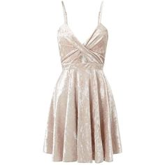 Miss Selfridge PETITE Velvet Skater Dress (€17) ❤ liked on Polyvore featuring dresses, ivory, petite, miss selfridge dresses, petite dresses, pink velvet dress, miss selfridge and skater dresses