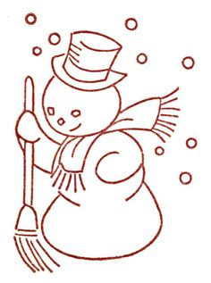 Snowman w Broom http://qisforquilter.com/wp-content/uploads/2012/11/snowman.jpg