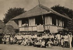 A large crowd gathered againts hookworm. Las Piñas, Rizal, PI.