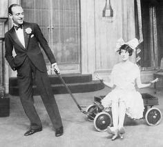 Fred and Adele Astaire in the London production of Funny Face,