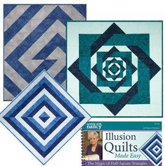 Illusion Quilts Made Easy with Half Square Triangles by Nancy Zieman   Sewing With Nancy
