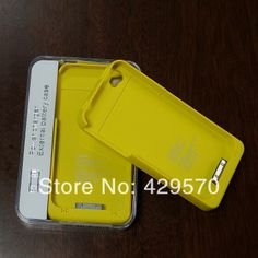 Free shipping 1900mah external battery case For iPhone 4 4S 4G Rechargeable Backup Battery Case power Charger Case 5 pcs $58.50