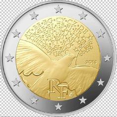 FRANCE-2-euro-Commemorative-La-Paix-en-Europe-2015-UNC
