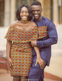 The collection of Beautiful Ankara Pattern Styles For Ladies you've ever wanted to see. Want to style and pattern your African print ankara Couples African Outfits, African Dresses For Women, African Print Dresses, Couple Outfits, African Attire, African Wear, African Fashion Dresses, African Women, Ankara Fashion