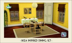 Sims 4 Designs: Ts2 to Ts4: Ikea Inspired Dining Set