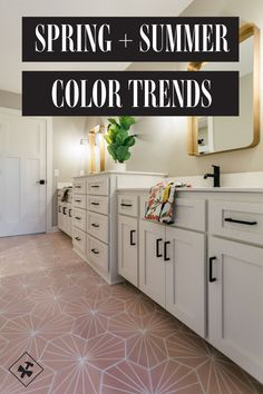 Spring and Summer Color Trends with Handy Paint Pail Color Trends, Design Trends, Favorite Paint Colors, Home Trends, Kitchen Colors, Summer Colors, Kitchen And Bath, House Colors, Home Remodeling