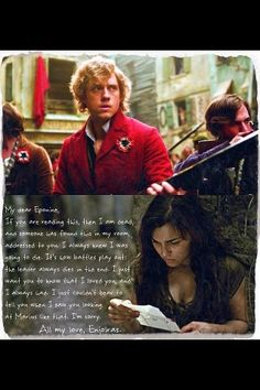 Okay, so I'm not a big fan of the Enjolras/Eponine stuff (Enjolras loved France, Ponine loved Marius) but this is really sweet.