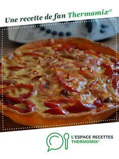 quiche au chorizo et aux poivrons rouges par Philae72. Une recette de fan à retrouver dans la catégorie Tartes et tourtes salées, pizzas sur www.espace-recettes.fr, de Thermomix<sup>®</sup>. Quiche Chorizo, How To Cook Rice, Charcuterie, Entrees, Food And Drink, Pizza, Cooking, Cake, Desserts